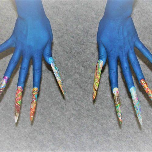 Fingernägel - Hände Bodypainting