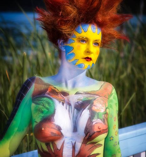 Bodypainting Facepainting Hairstyle Natur