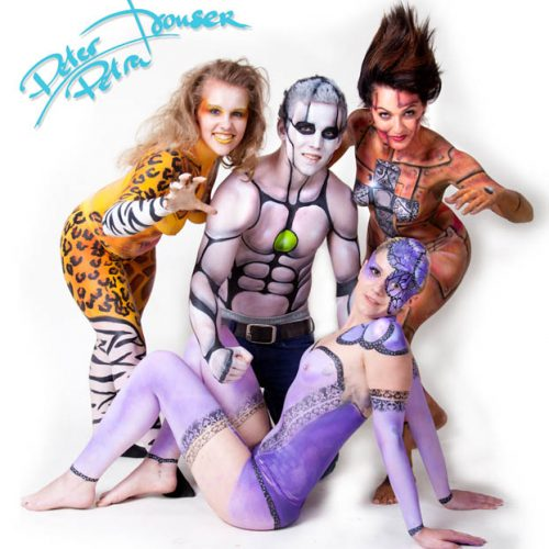 Bodypainting Gruppe