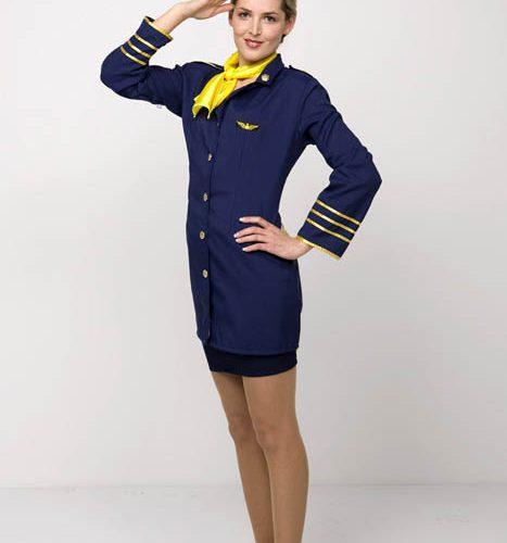 Flugbegleiterin Make-Up Hair